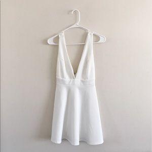 Nasty Gal white v-neck dress